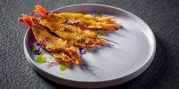Креветки на гриле с мисо-айоле