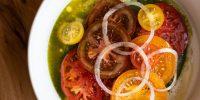 Помидоры,-пюре-из-зеленой-травы,-оливковое-масло-420₽